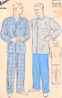 Pánská pyžama, zdroj Pinterest Etsy