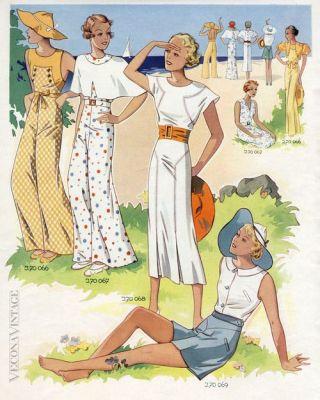 Plážová pyžama 1930, zdroj Pinterest