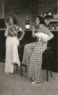 Pohodová plážová pyžama z 1930, zdroj Pinterest