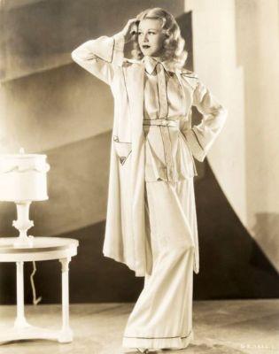 Společenská dámská pyžama okolo 1940, zdroj Pinterest